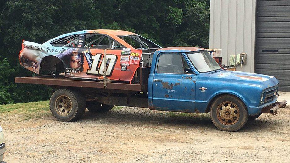 Dale Jr Car Yard Danica Patrick Wrecked Kansas Car At