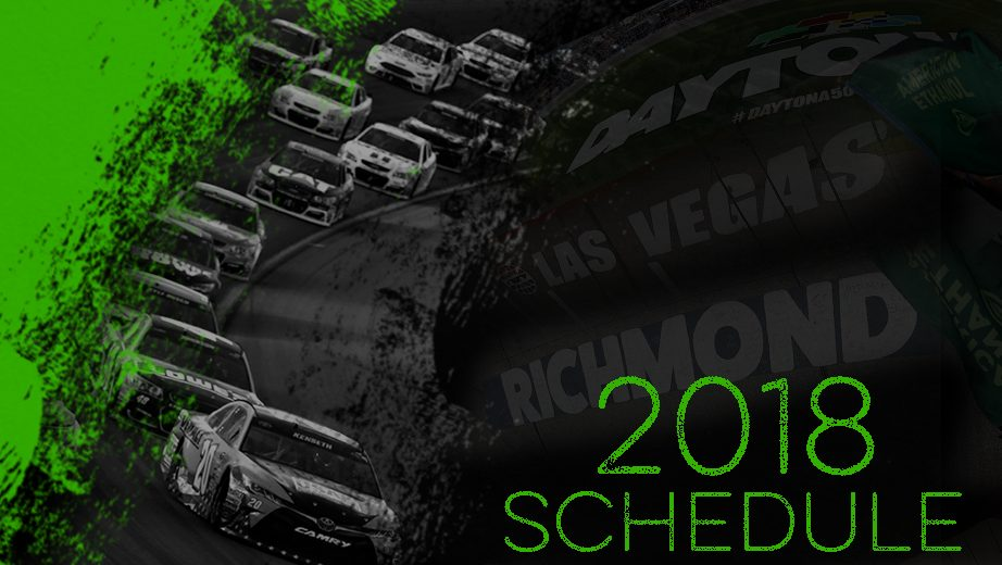 NASCAR release 2018 schedule for all three series