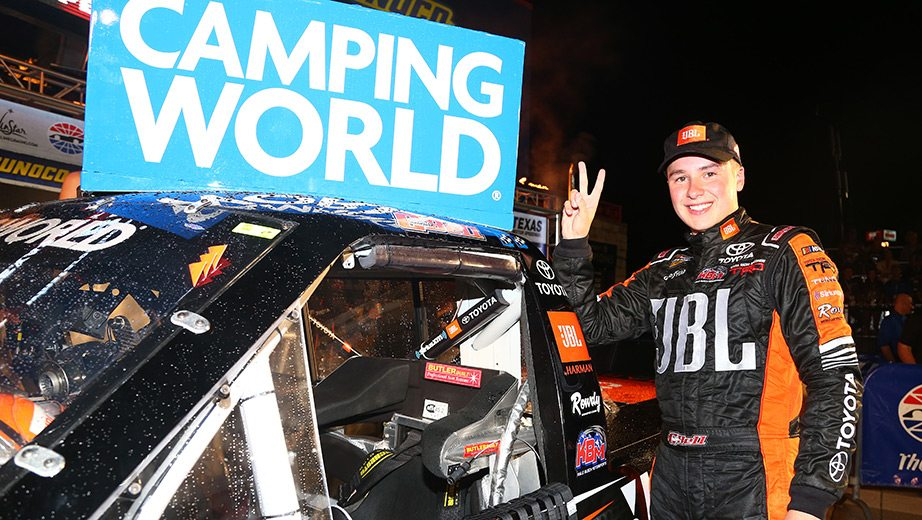 Bell wins Camping World Truck Series race at Texas after finish under caution