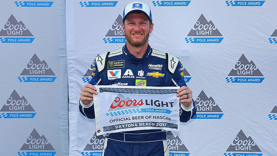 Dale Earnhardt Jr Wins Coors Light Pole Award At Daytona