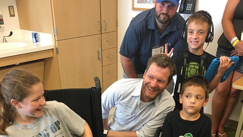Dale Earnhardt Junior Childrens Hospital on Racing Nascar S Suits
