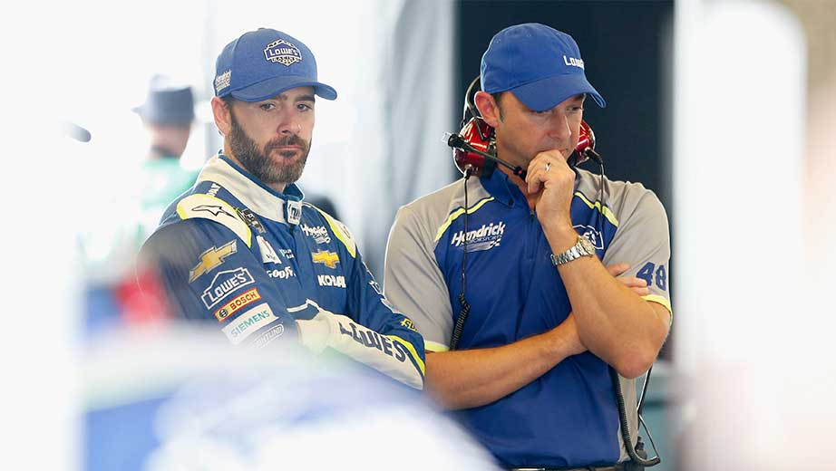 Jimmie Johnson among drivers sent to rear of field at Indianapolis