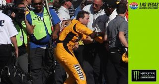 Fight breaks out on pit road