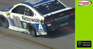 Johnson sends teammate Dale Jr. into wall