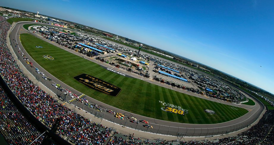 View from the track at Kansas Speedway