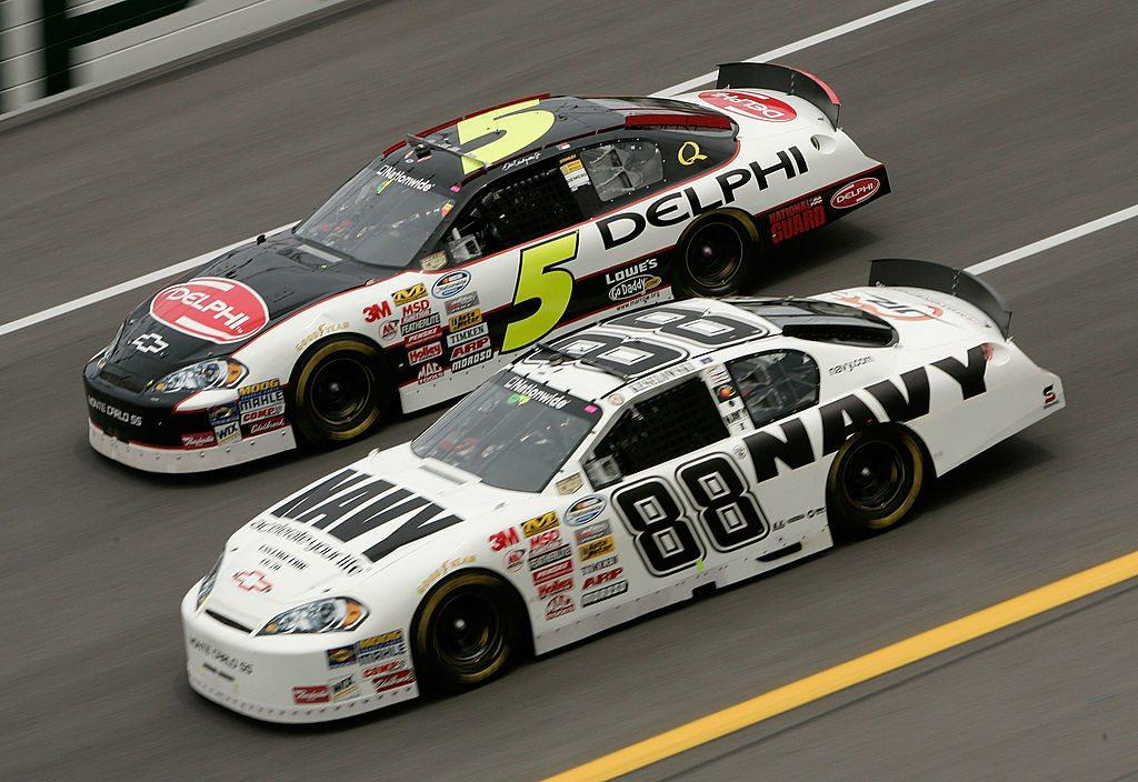 Racing-nascar Straightforward Budweiser Dale Jr Jersey Embroidered Baseball Earnhardt Nascar Auto Racing Large