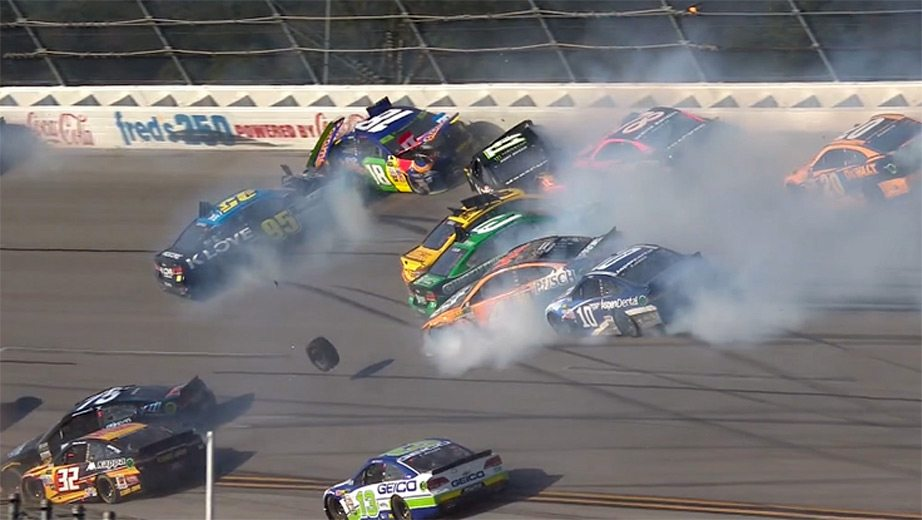 Talladega update: 'Big One' collects playoff drivers in ...