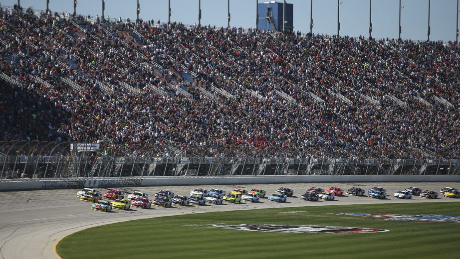 View from the track at Chicagoland Speedway