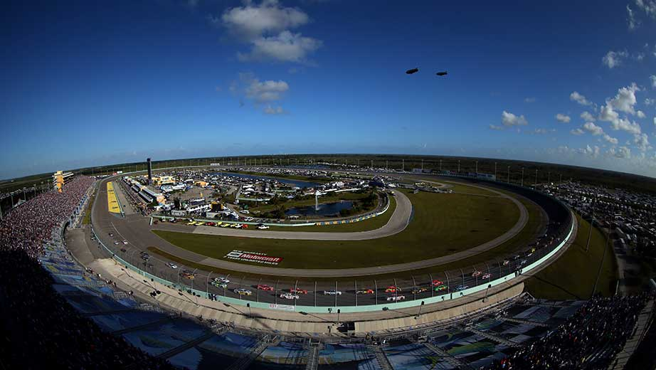 View from the track at Homestead-Miami Speedway