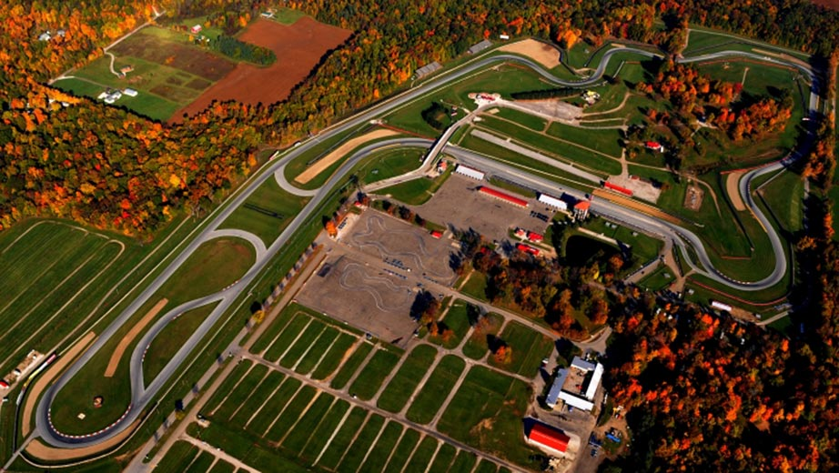 View from the track at Mid-Ohio Sports Car Course