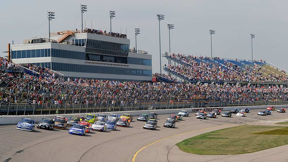 View from the track at Iowa Speedway
