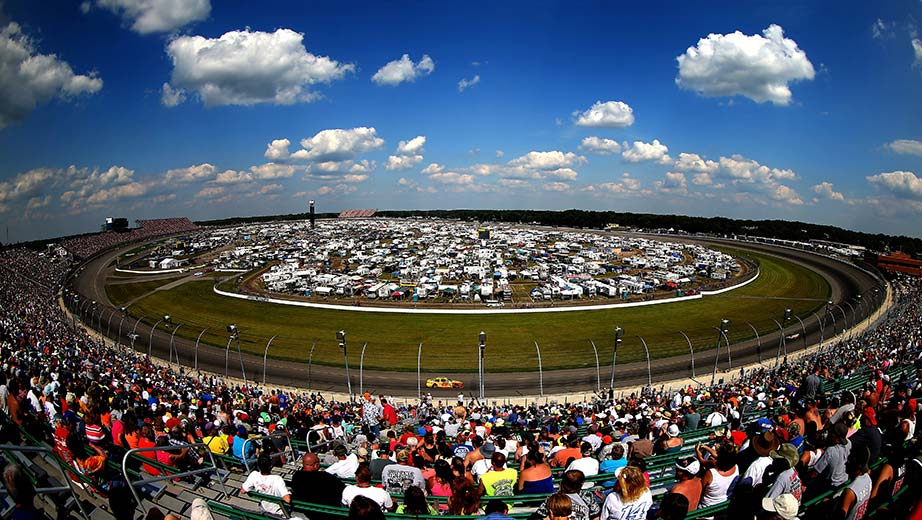 View from the track at Michigan International Speedway