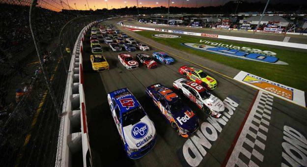 A four-wide salute to fans at Richmond Raceway