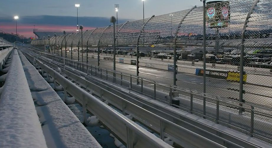 Martinsville Speedway Tickets >> Drivers react to snowy weather at Martinsville | NASCAR.com