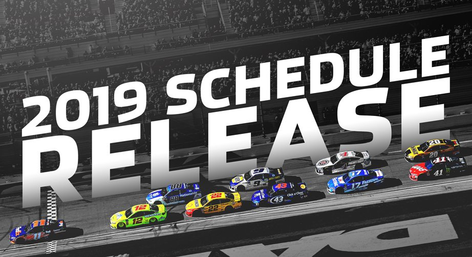 photo relating to Nascar Schedule Printable titled NASCAR shows 2019 Monster Electrical energy Sequence plan