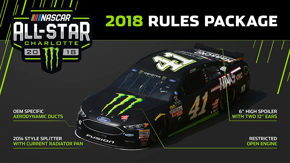 A graphic of the All-Star Race rules package