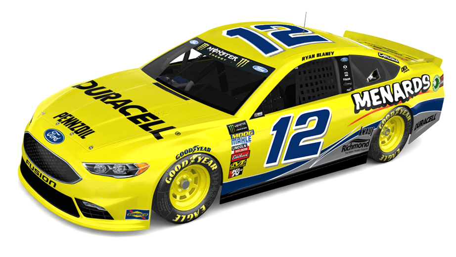 A rendering of Ryan Blaney's Darlington paint scheme