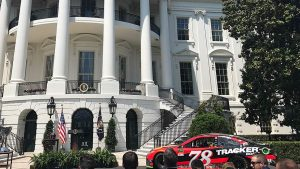 The No. 78 Toyota parked outside the White House in Washington, D.C.