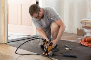 Dale Earnhardt Jr. works on renovating a house for DIY Network.