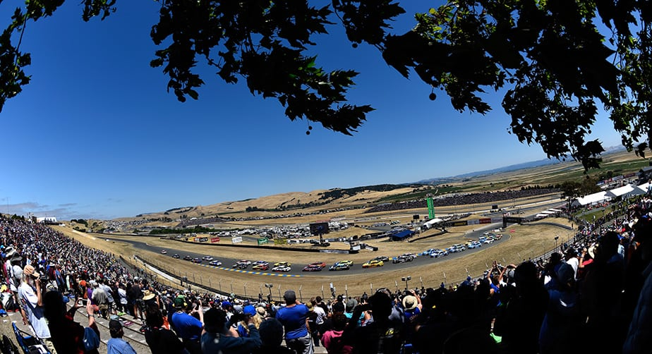 View from the track at Sonoma Raceway
