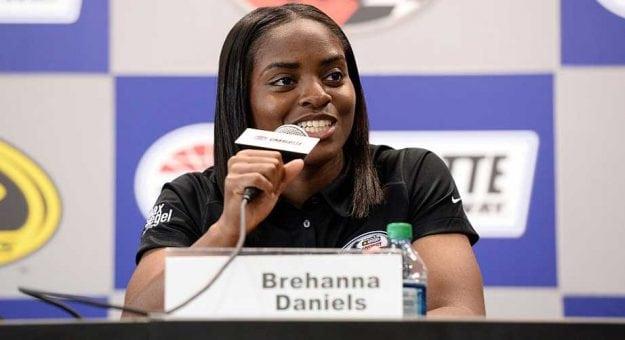Brehanna Daniels pit crew member in NASCAR