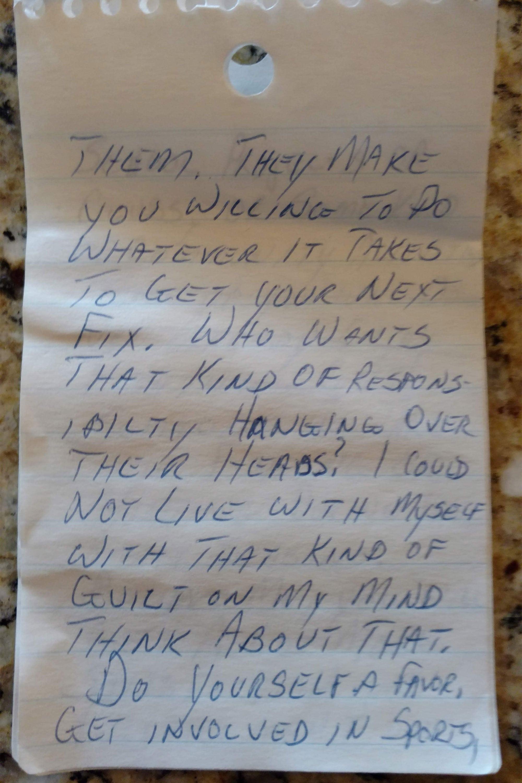 Davey Allison handwritten speech