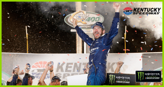 Martin Truex Jr. gets lost getting to Victory Lane