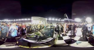 360 Kurt Busch Victory Lane Celebration