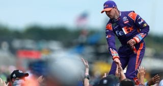 What makes Hamlin's Darlington helmet and fire suit special?