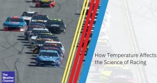 How does temperature affect the science of racing?