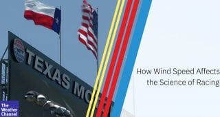 How does wind speed affect the science of racing?