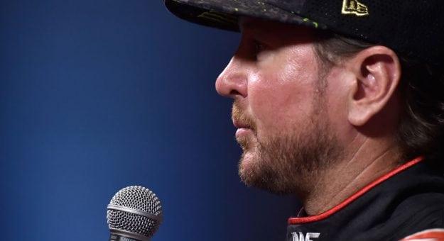 Kurt Busch speaks at NASCAR Playoffs Media Day.