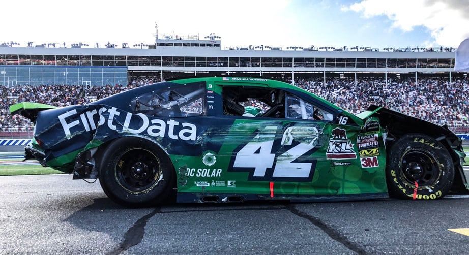 Kyle Larson Squeaks Into Round Of 12 After Wreck Nascar Com