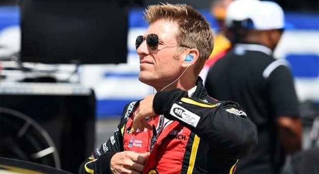 Jamie McMurray preps before the race