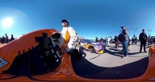 Suarez Climbs In Car 360