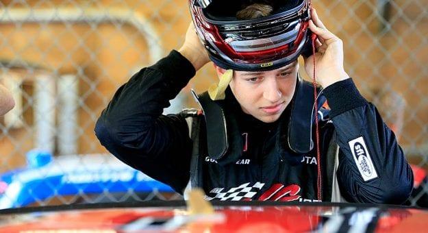 Kyle Benjamin makes preparations in the Xfinity Series garage at Mid-Ohio.