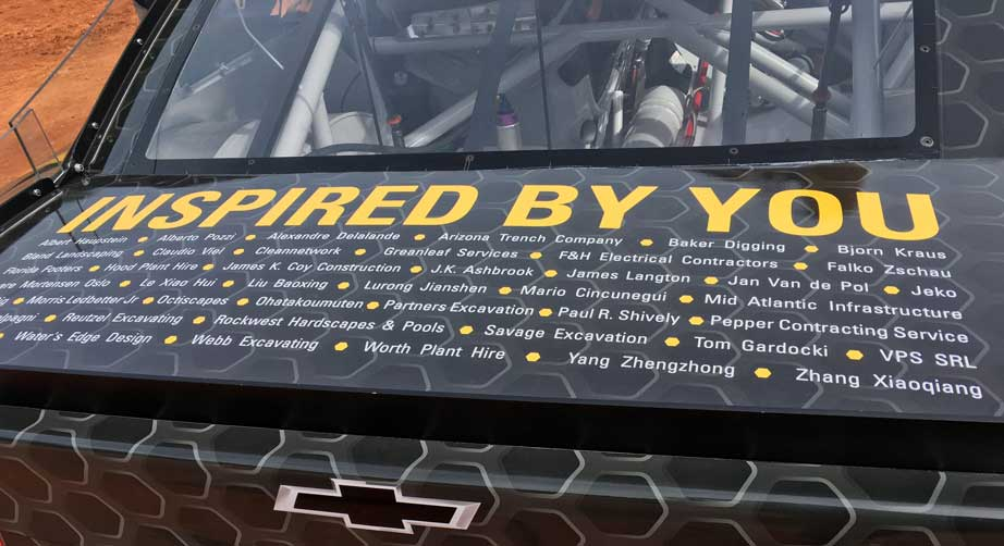 Names on the back of Ryan Newman