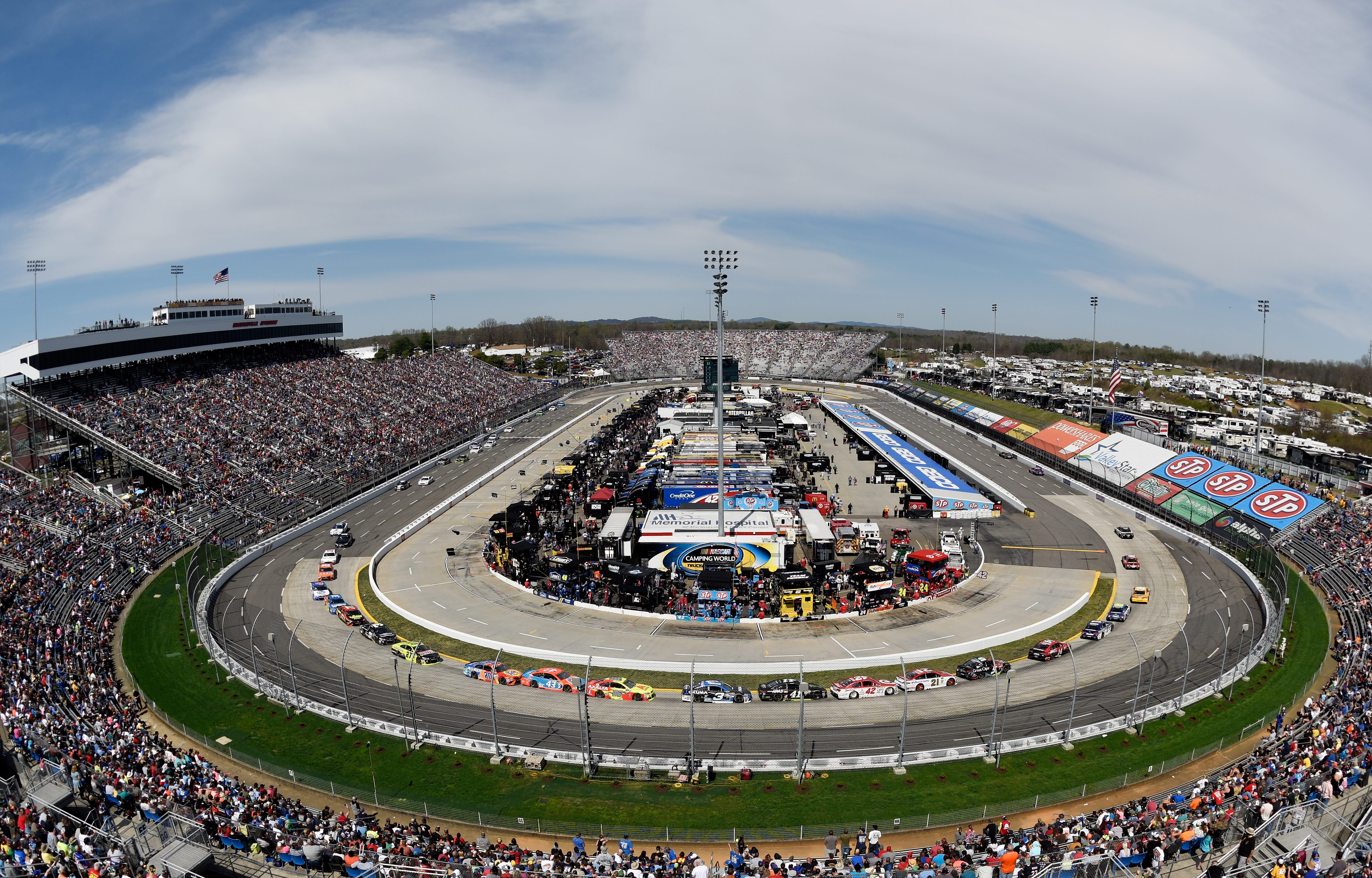 View from the track at Martinsville Speedway