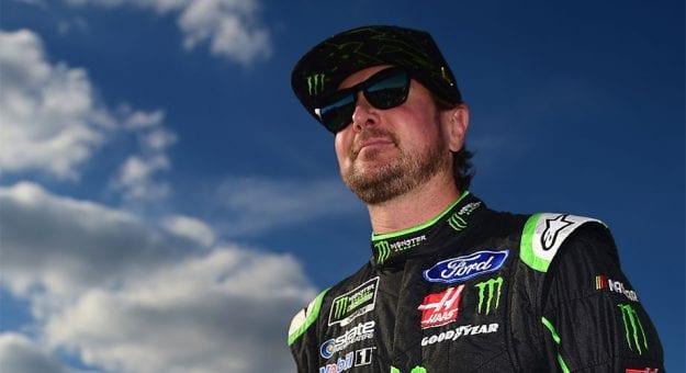 Kurt Busch smiles on the grid