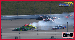 Watch: First-lap wreck takes out several playoff contenders