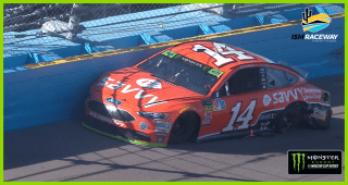 Clint Bowyer smacks the wall, slashing his title hopes