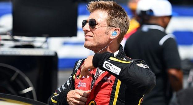 Jamie McMurray suits up at Darlington Raceway.