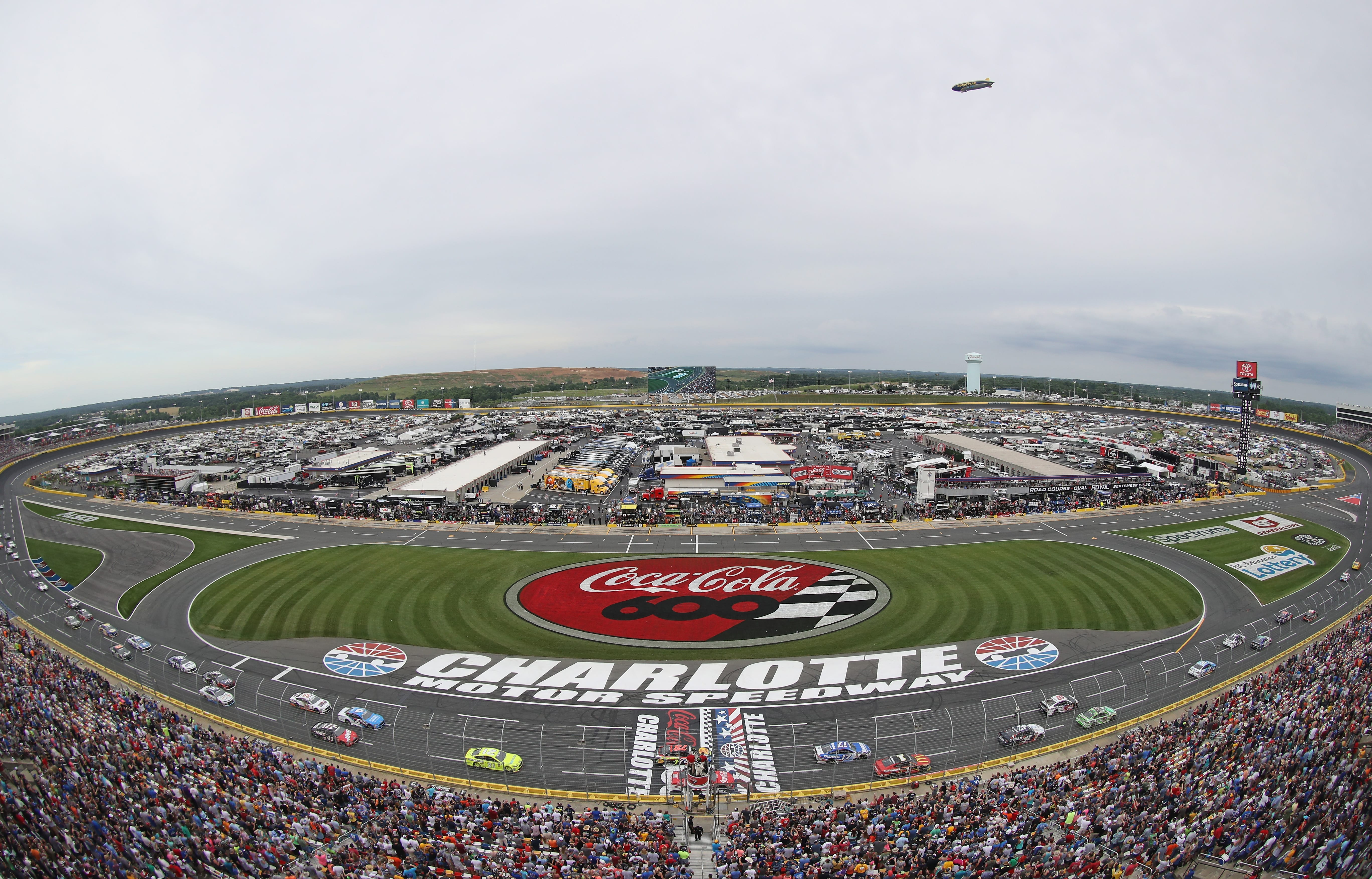 View from the track at Charlotte Motor Speedway
