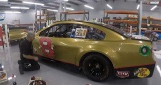 Time-lapse of Hemric's No. 8 Daytona 500 scheme