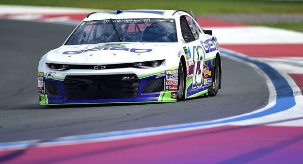 Ty Dillon drives the No. 13 Chevrolet at Charlotte Motor Speedway during the 2018 season.