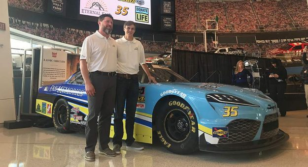 Joey Gase and the No. 35 Supra he'll drive in the 2019 Xfinity Series.