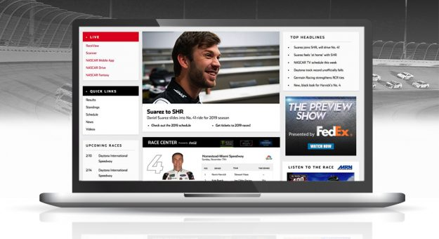 NASCAR.com homepage graphic