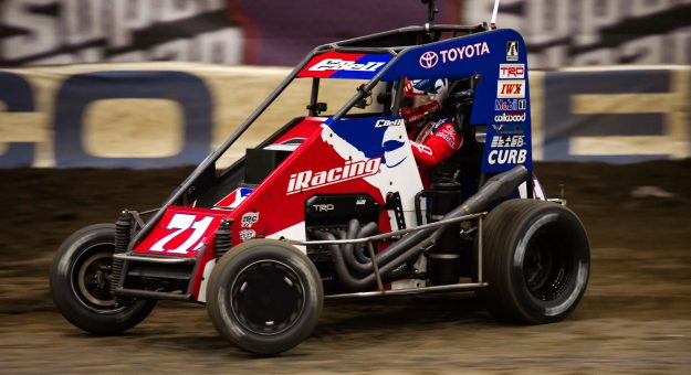 Christopher Bell races the No. 71w dirt midget at the Chili Bowl Nationals.