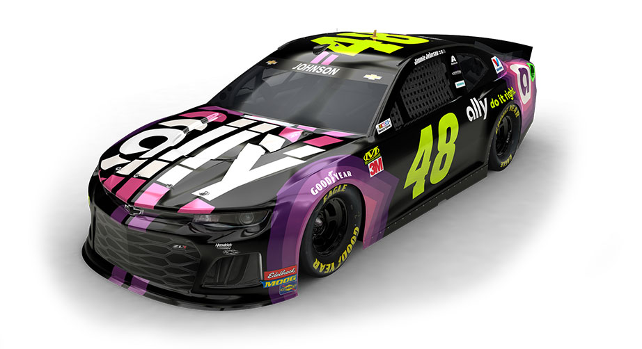 Jimmie Johnson Chevy >> Johnson Ally Unveil Paint Scheme For No 48 Chevrolet