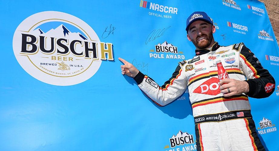 Austin Dillon wins Busch Pole Qualifying at Auto Club